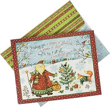 Amazon.com: Lang Santa Tarjetas de Navidad en caja de regalo ...