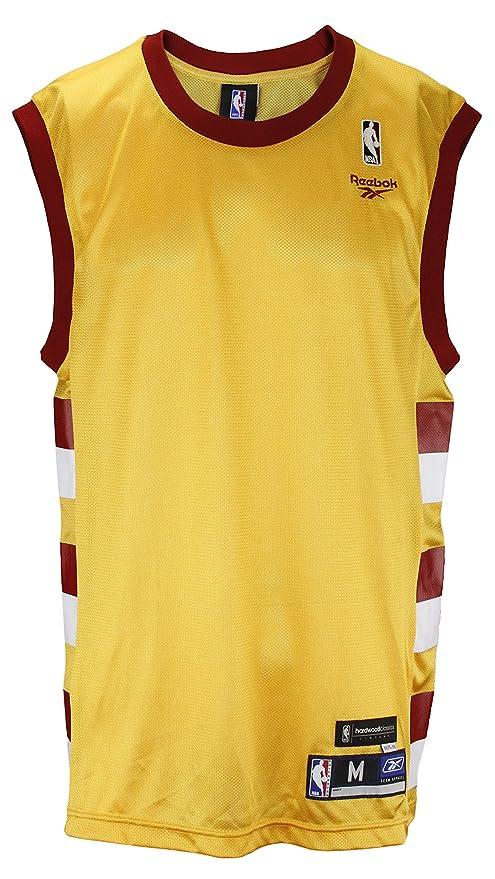 NBA Retro Hardwood Classics Style Blank Jersey, Gold & Maroon (Large)
