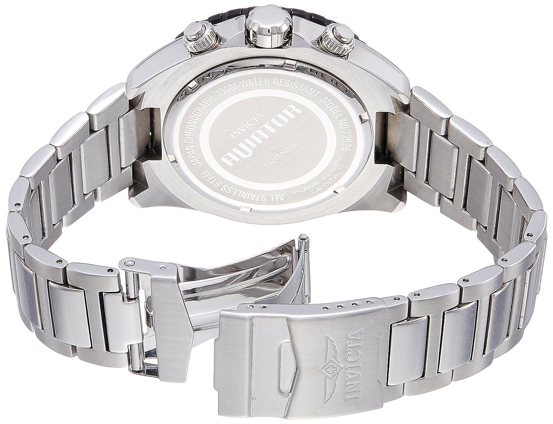 Amazon.com: Invicta Mens 22526 Aviator Analog Display Swiss Quartz Silver Watch: Invicta: Watches