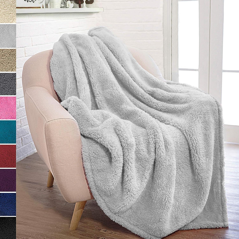 Amazon.com: PAVILIA - Manta de felpa para sofá o sofá de ...
