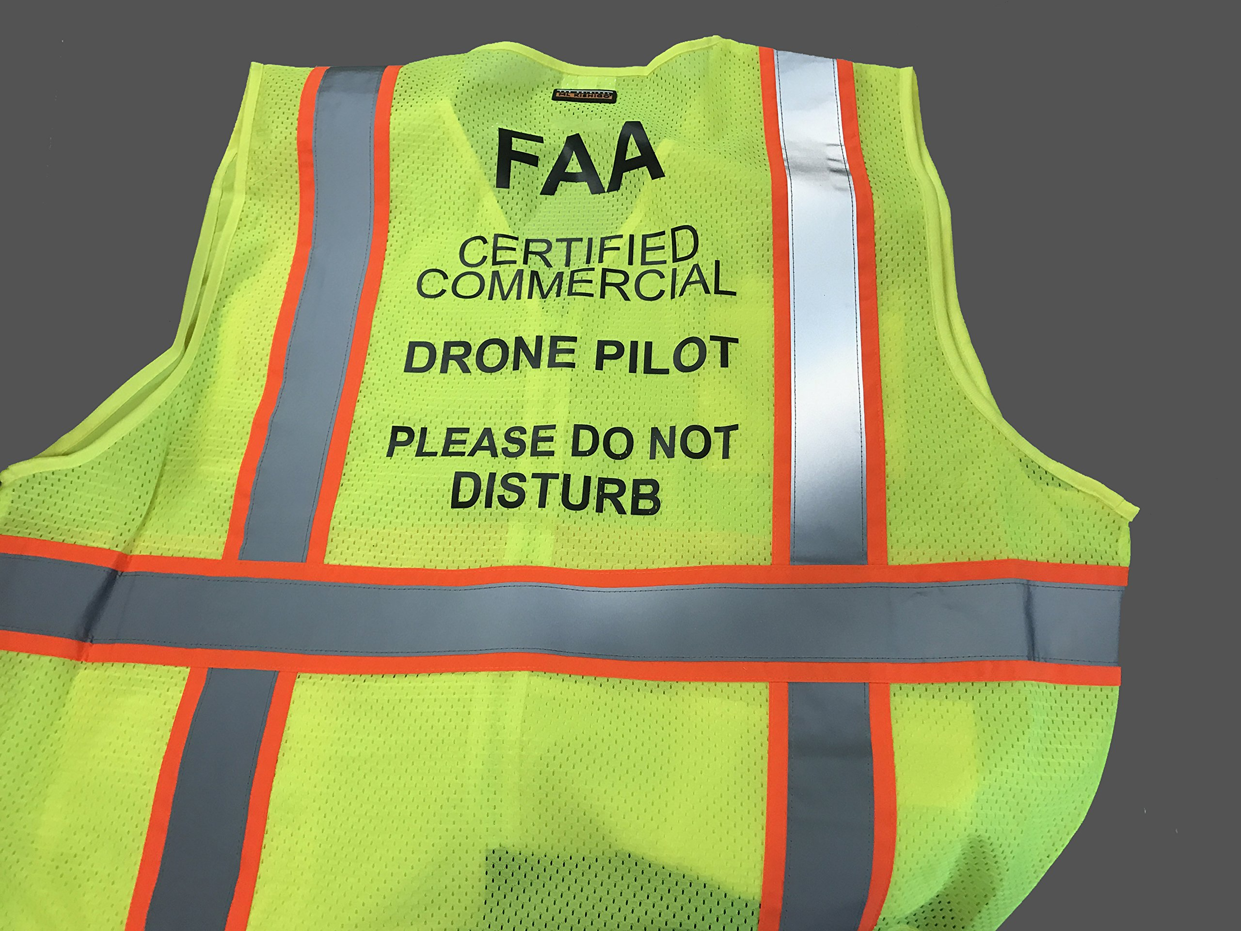 Custom Safety Reflective Mesh Vest with Zipper - Personalized Drone Pilot Vest by Safety Miracle (Image #6)