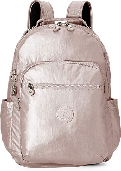 Kipling SEOUL - Mochila escolar, 27 liters, Rosa (METALLIC ROSE): Amazon.es: Equipaje