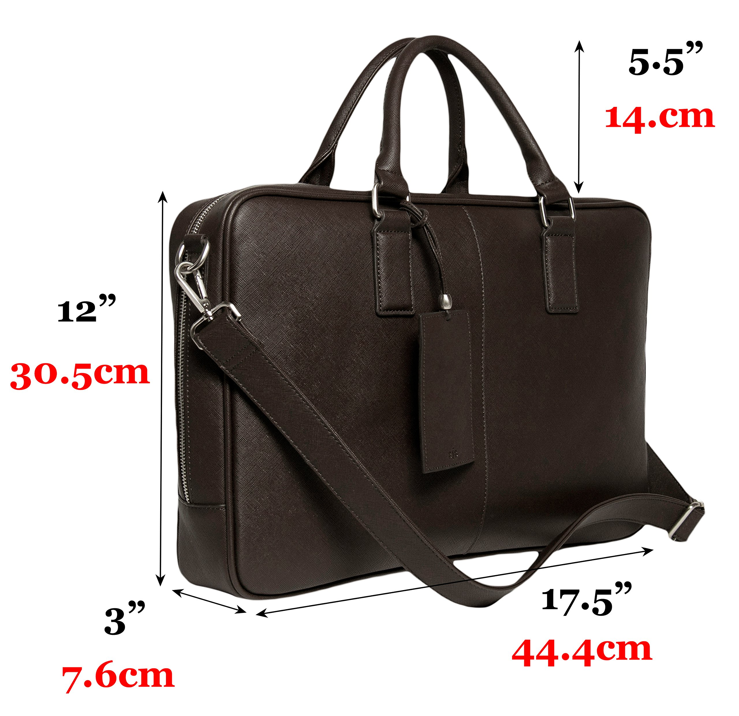 BfB Laptop Messenger Bag For Men - Designer Business Computer Bag Or Attorney Briefcase - Ideal Commuter Bag For Work And Travel - CHOCOLATE BROWN by My Best Friend is a Bag (Image #8)