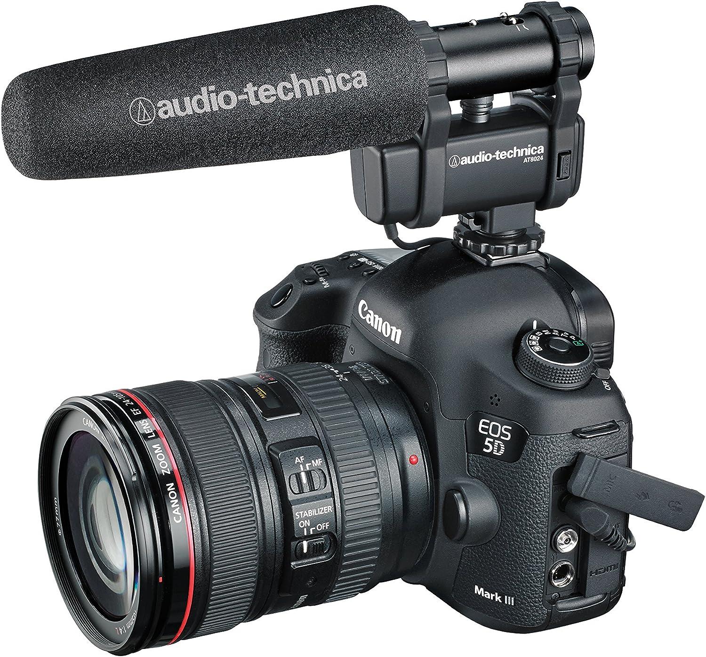 Audio-Technica AT8024 Stereo//Mono Camera-Mount Condenser Microphone