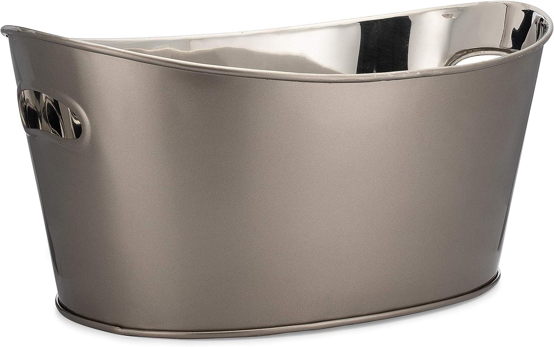 Old Dutch International Phantom 554PH Beverage Tub, 8 Quart, Metallic Gray