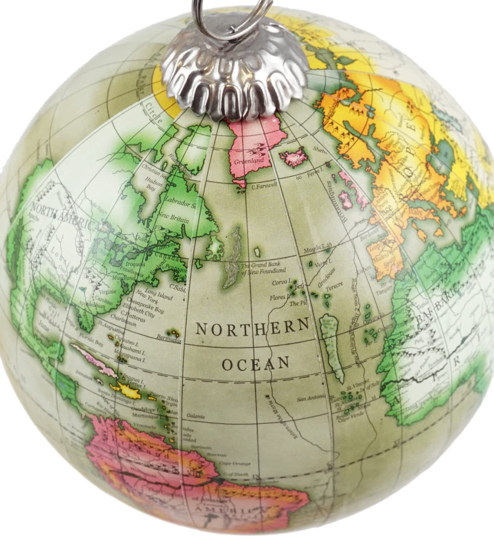 World map globe quick maps amazoncom old world map globe hanging christmas tree ornament by 91hujyuc2tl b01n3lhe5p gumiabroncs Choice Image