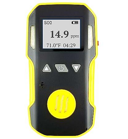 FORENSICS Detector de dióxido de azufre So2 | Sonido ajustable, luz y alarmas de vibración