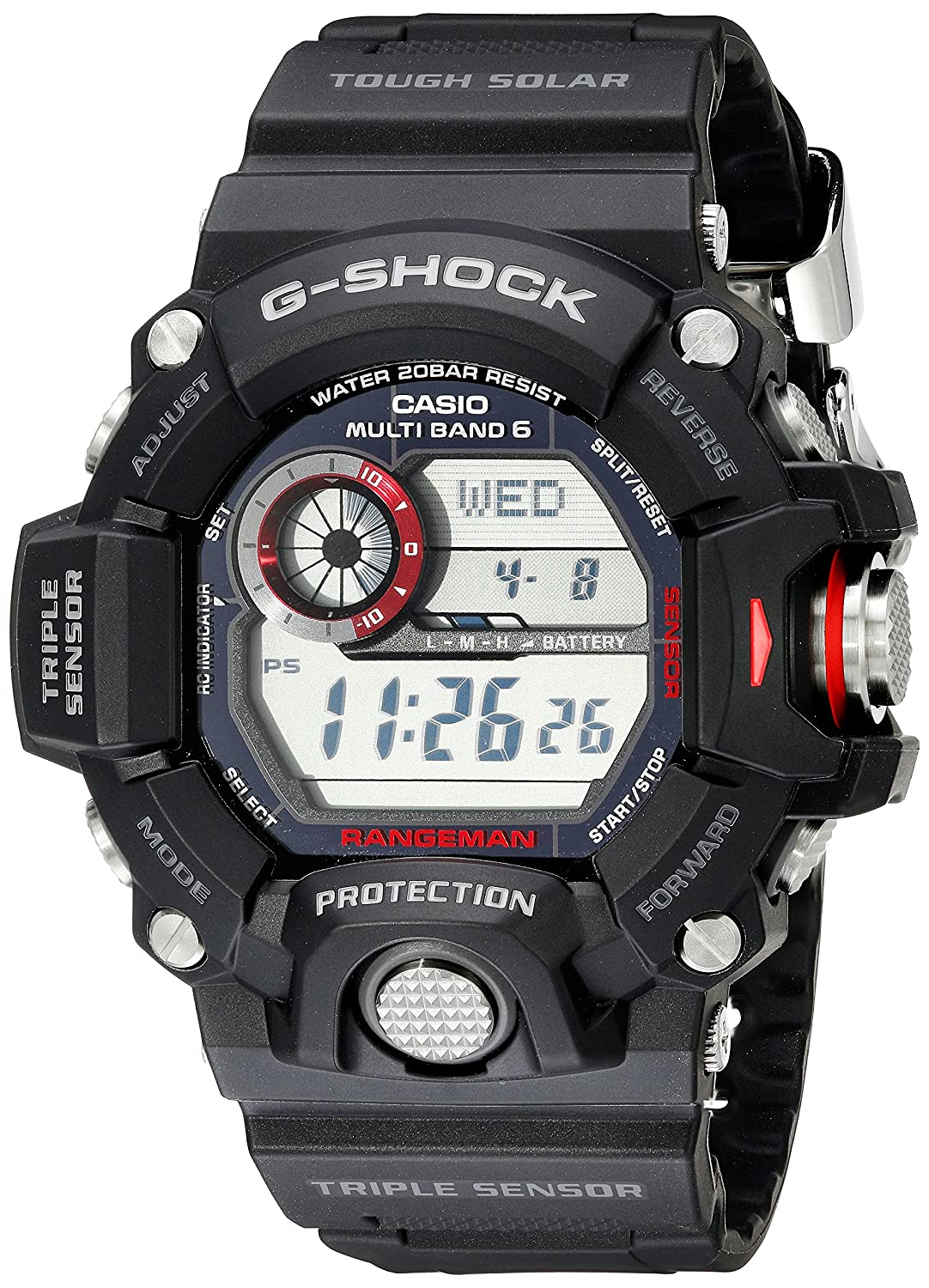 hot sale online ad193 41aaf Casio Men's GW9400Rangeman G-Shock Solar Atomic Watch