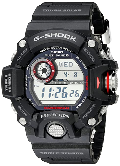 front facing Casio GW9400 Rangeman G-Shock Solar Atomic Watch