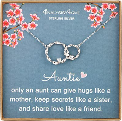 Niece Birthday Gift Gift For Niece To My Niece Joined Hearts Necklace Niece Gift From Aunt Niece Necklace