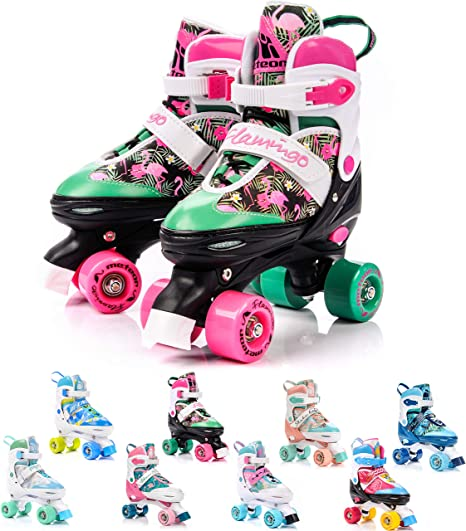 METEOR Pattini a 4 rotelle regolabili skates INLAY da 31 a 42