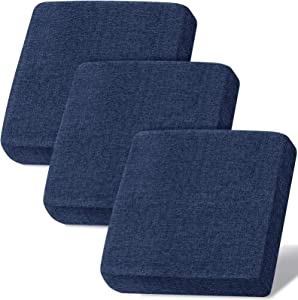 Linen Couch Cushion Covers, Sofa Cover Sofa Furniture Protector Slipcover with Bottom Tie rope, Soft Non-Slip Non-Wrinkle Non-Sticky Suitable for Chair Bench Settee Seat Loveseat Navy 3 Pieces