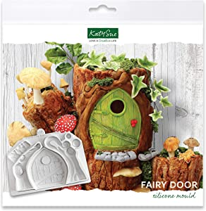 Fairy Door Silicone Mold for Cake Decorating, Crafts, Cupcakes, Sugarcraft, Candies, Chocolate, Card Making and Clay, Food Safe Approved, Made in The UK