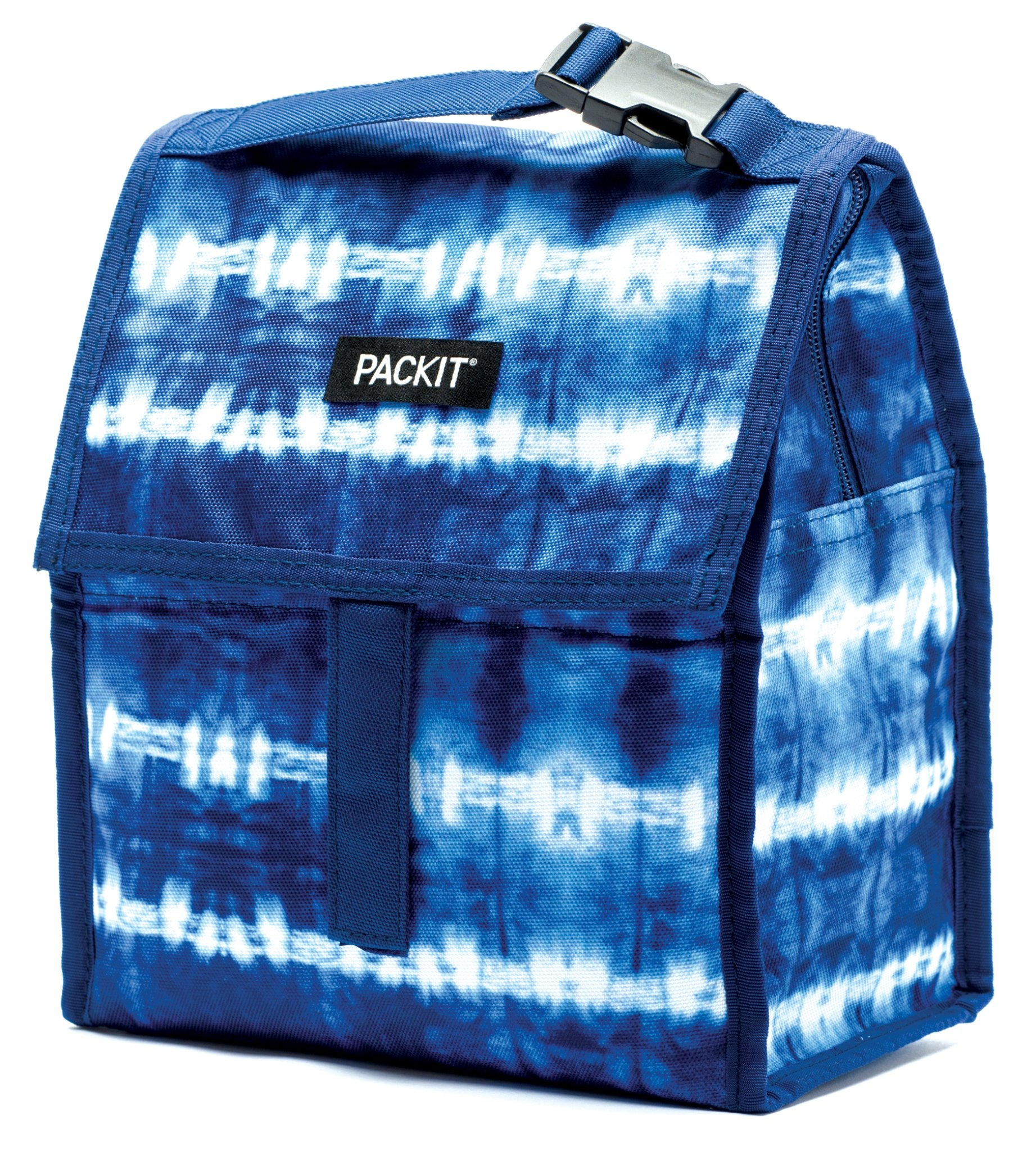 PackIt Freezable Lunch Bag with Zip Closure, Tie Dye by PackIt