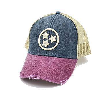 c03cc05a004 Image Unavailable. Image not available for. Color  Cotton Mule Tricolor 3D Tristar  Trucker Hat