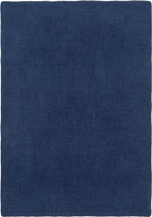 myfelt Alva Alfombra, Azul Oscuro, 90 x 130 cm: Amazon.es: Hogar