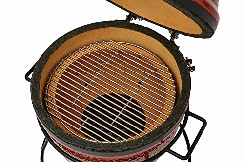 Kamado Joe KJ13RH Joe Jr Grill, Red