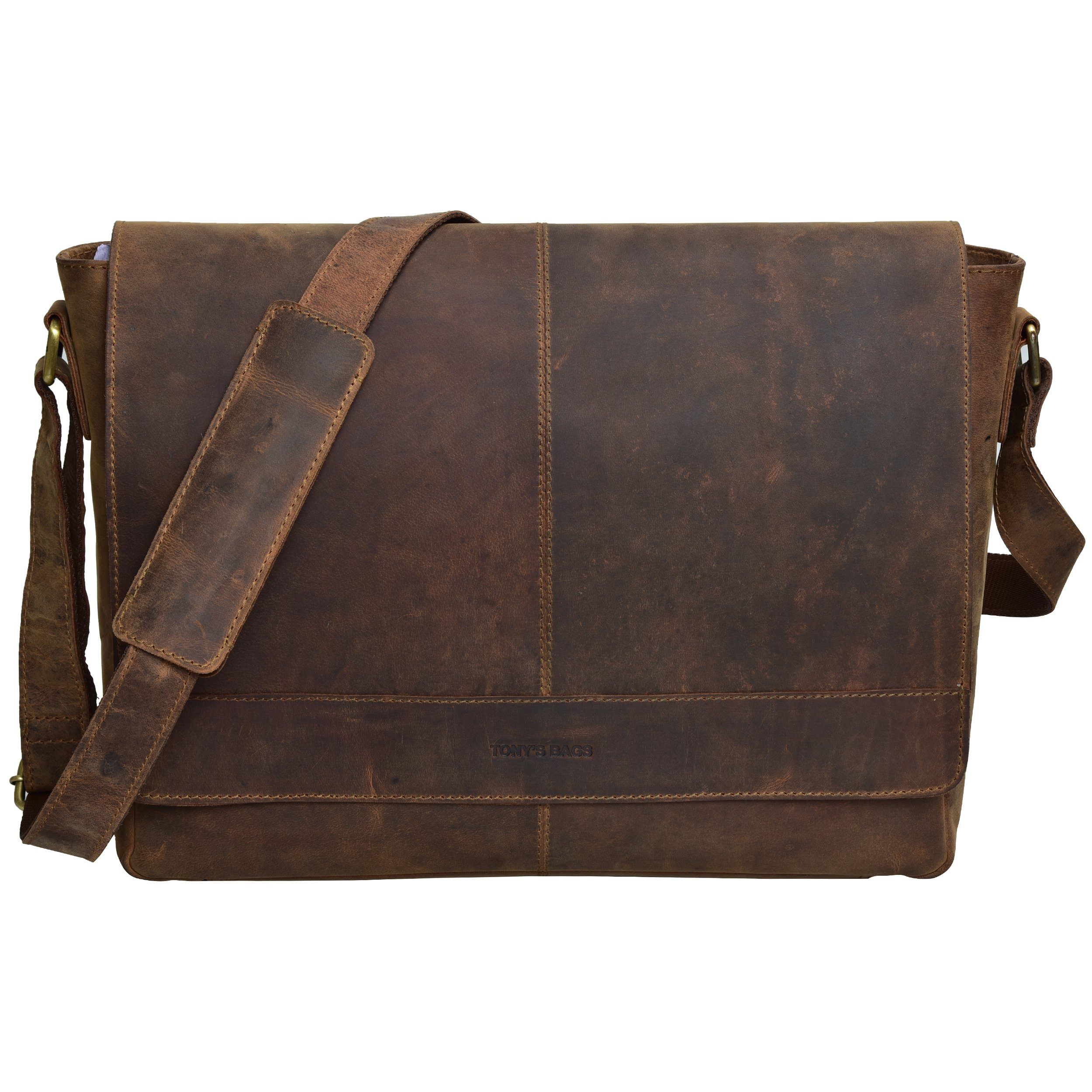 TONY'S BAGS Messenger bag, Laptop bag - College Bag, Office Bag, Business Bag Briefcase in Vintage Style