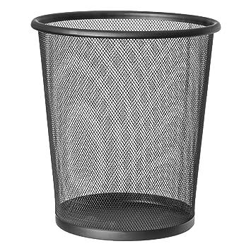 Artmoon Mesh Papierkorb Mülleimer 12l Schwarz Pulverbeschichteter
