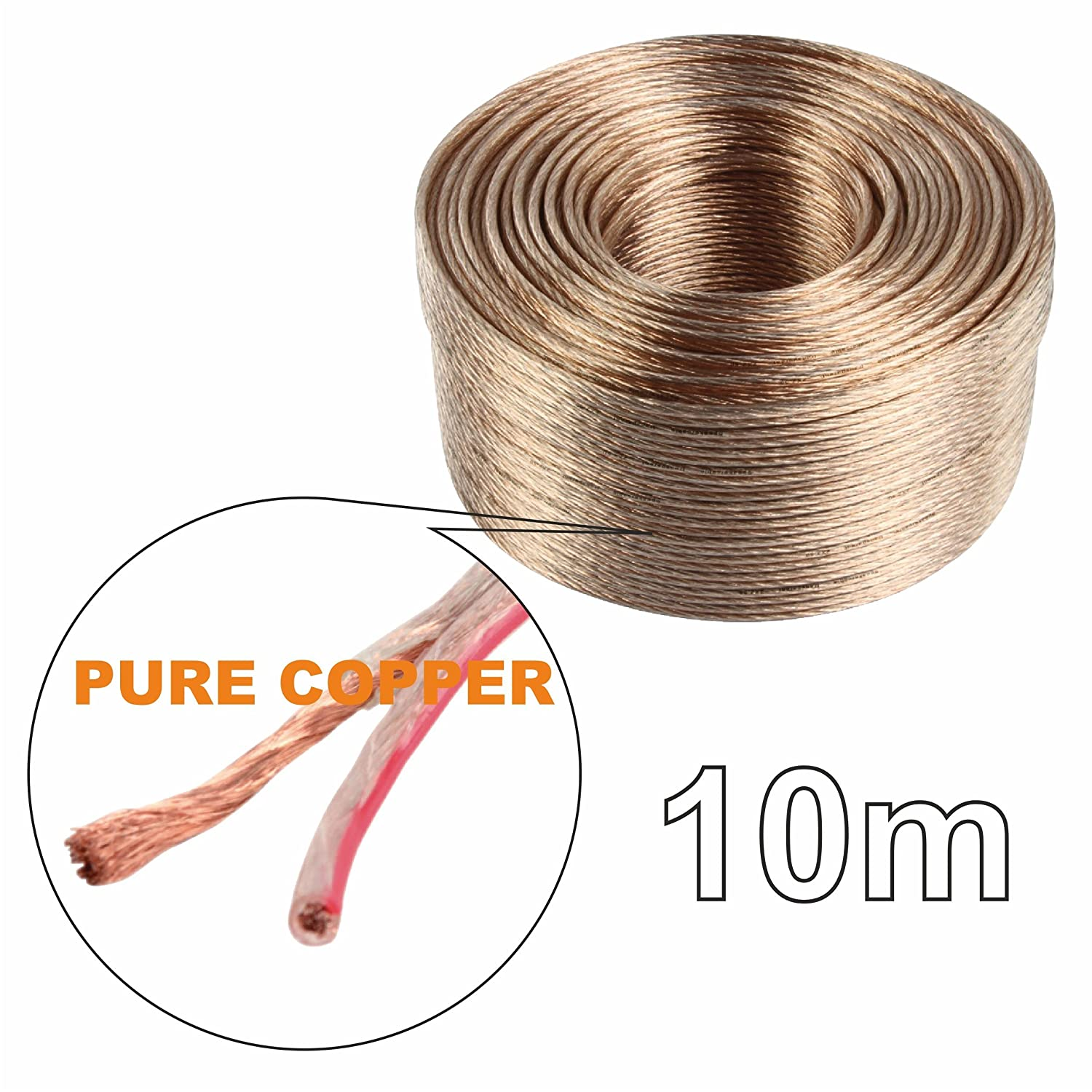 Speaker Cable Audio Car HiFi 2x0.4 2x0.3 5m OFC Quality Wire Oxygen Free Copper