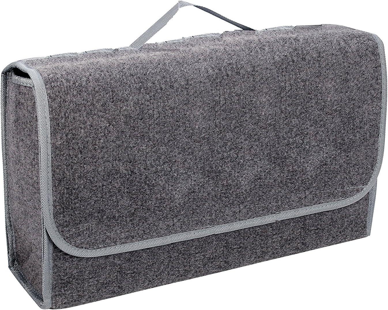 INTERINNOV Bolsa para Maletero Fabricada en Fieltro con Velcro (48 x 16 x 32 cm), Color Gris