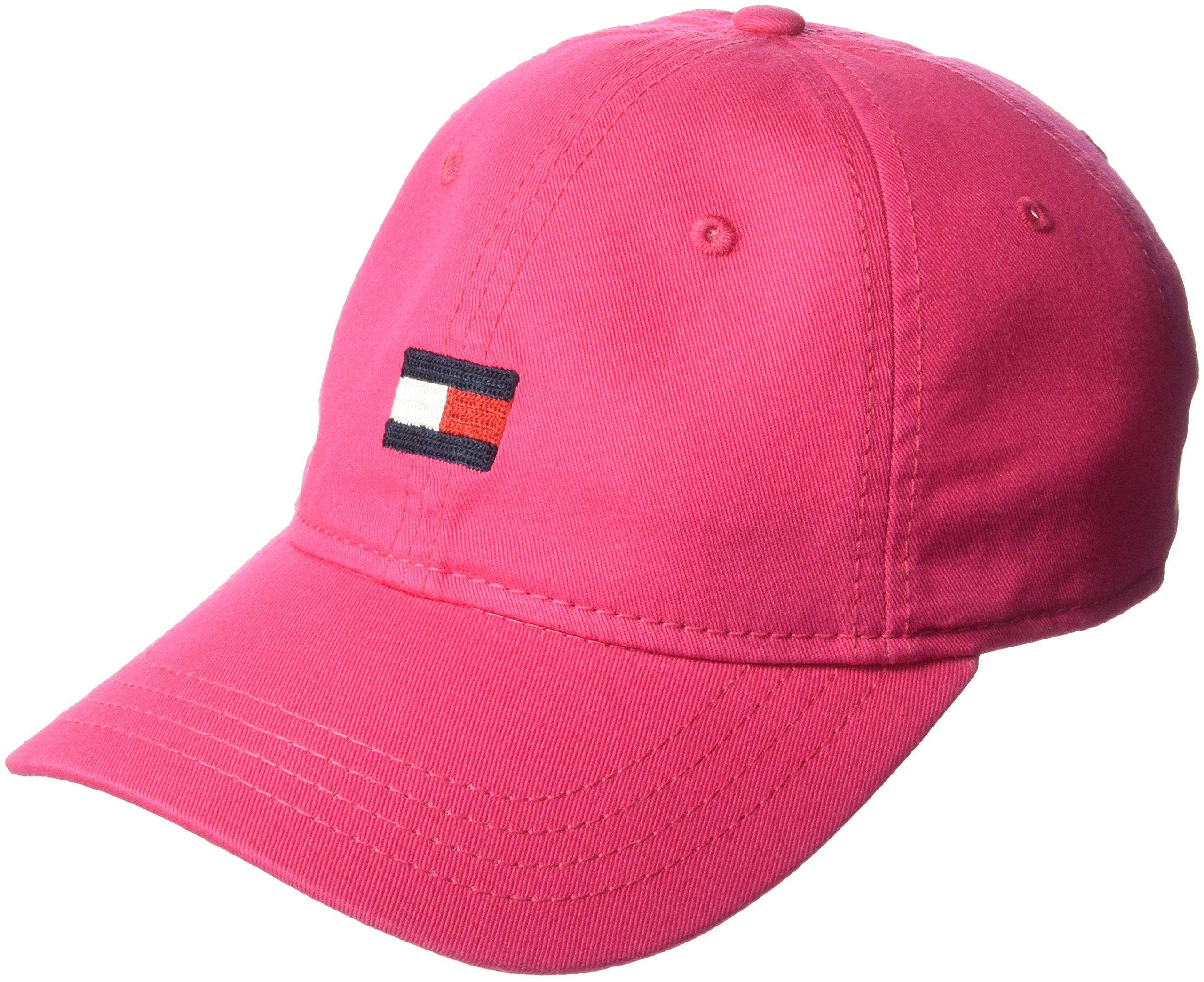 Tommy Hilfiger Men's Ardin Dad Hat, Petunia Pink, One Size