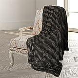 Swift Home Micro-Mink King Faux Fur Blanket, Mink