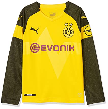 d36c466f777 Amazon.com   PUMA 2018-2019 Borussia Dortmund Long Sleeve Home Football  Soccer T-Shirt Jersey (Kids)   Sports   Outdoors