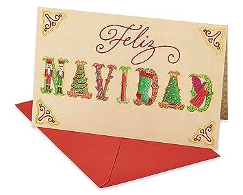 Amazon Com American Greetings Feliz Navidad Christmas Card In