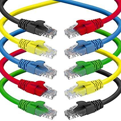 Amazon.com: CAT 6 Ethernet Cable (1.5 Feet) LAN, UTP (0.5m) CAT6 ...