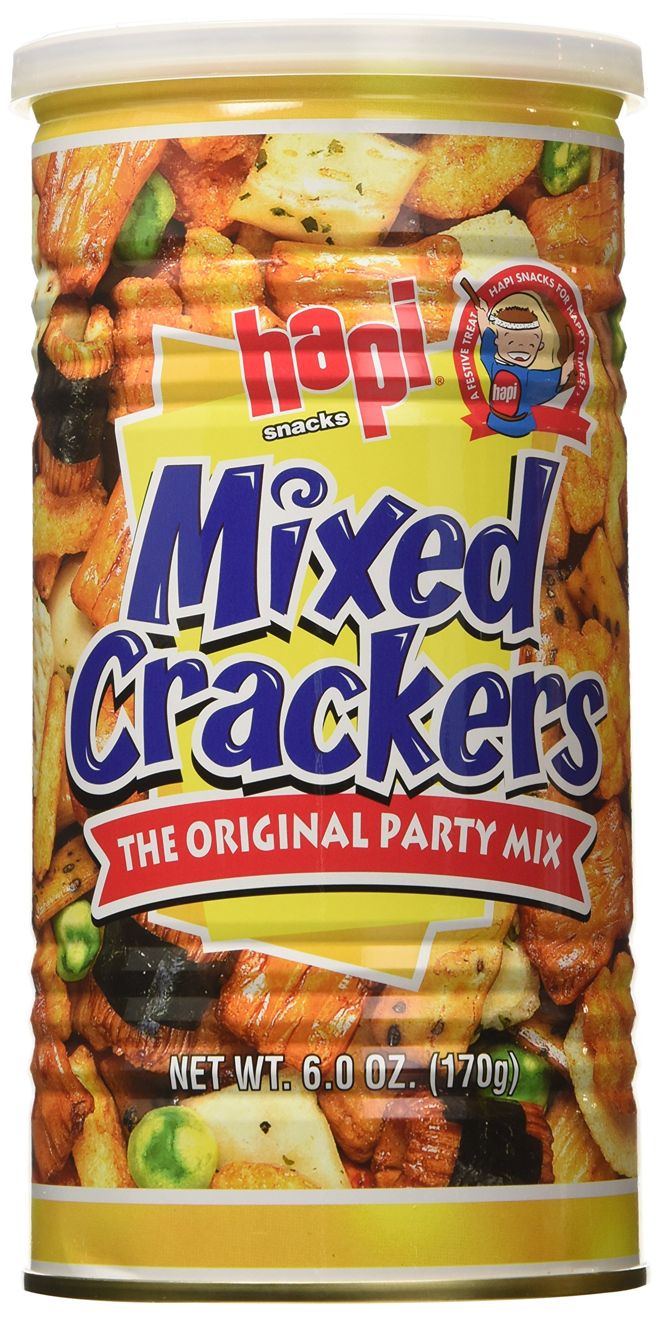 Hapi Mixed Crackers Original Party Mix, 6 Ounce (Pack of 12)