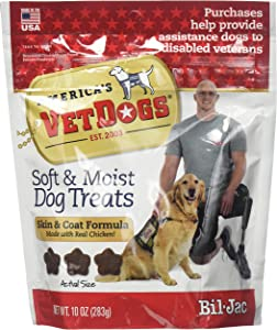 Bil-Jac (6 Pack) America's Vet Dogs Skin and Coat Dog Treats, 10 Ounces Each