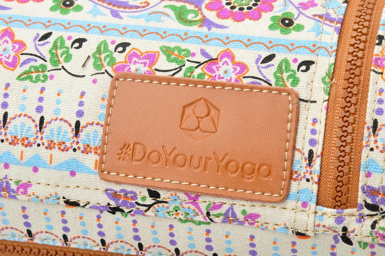 #DoYourYoga Yogabag »Sunita« yoga mat bag made of high-class Canvas, for yogamats up to 180 x 60 x 0,3 cm. Rose Pattern