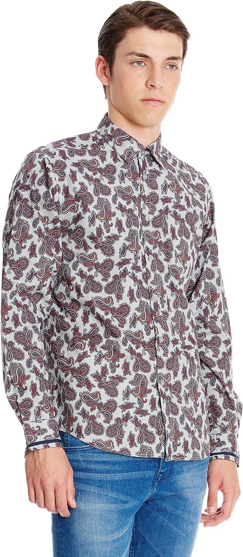 Merc Camisa Hombre Hull Ceniza XS: Amazon.es: Ropa y accesorios