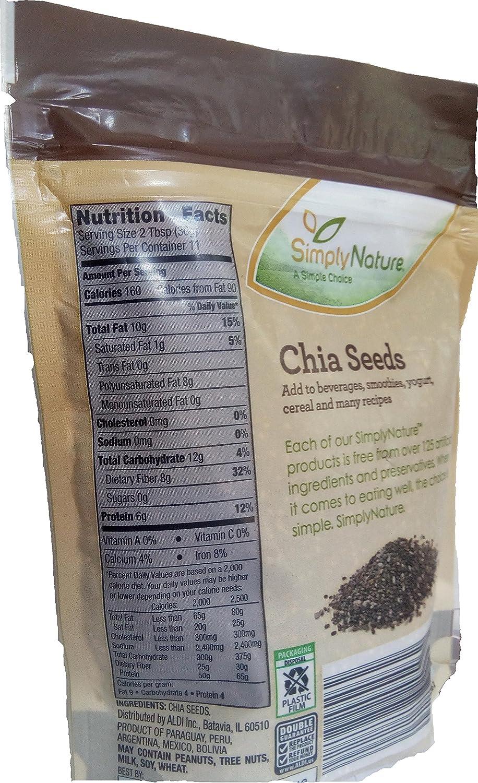 Semillas de chia SimplyNature, 12 onzas: Amazon.com: Grocery ...