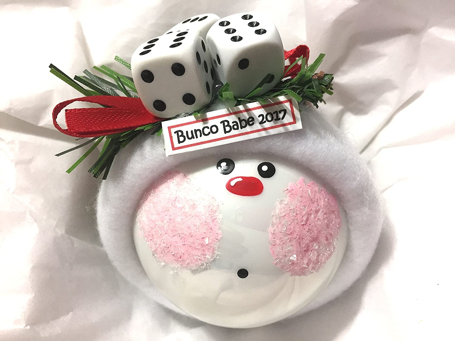 Amazon.com: Bunco Christmas Ornaments Personalized Dice Game Hand ...