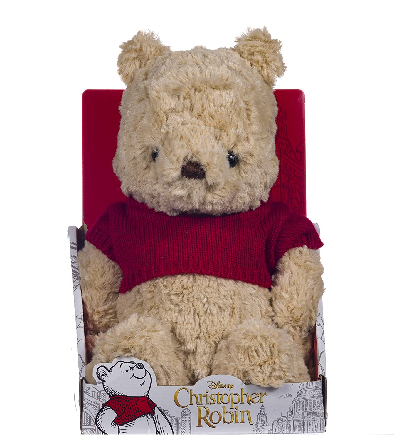 Disney Christopher Robin Collection Winnie The Pooh Weiche Spielzeug  –   25  cm Posh Paws 37465