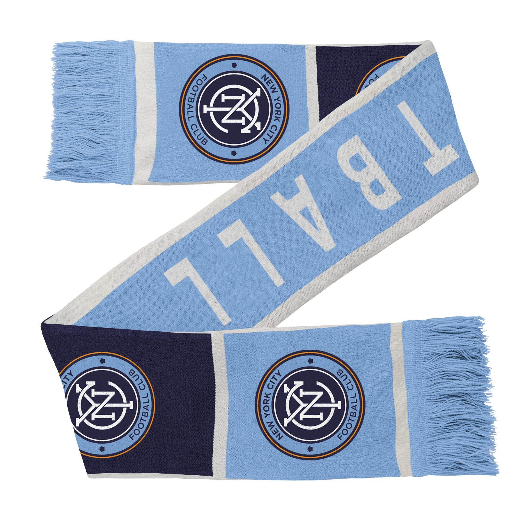 Outerstuff MLS NYCFC R S8FDW Youth Boys Fringe Scarf, One Size (8), Bahia Blue