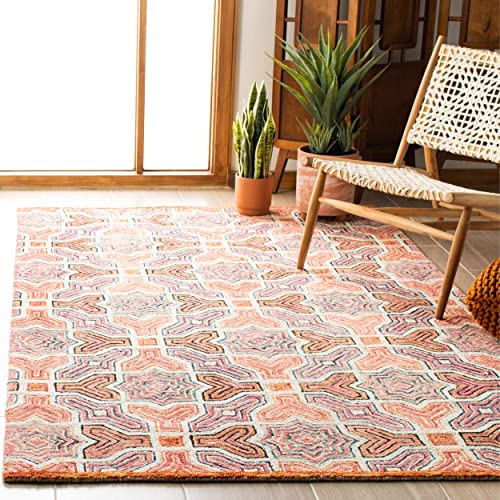 Safavieh Aspen Collection APN260U Handmade Wool Area Rug, 3 x 5 , Pink Orange