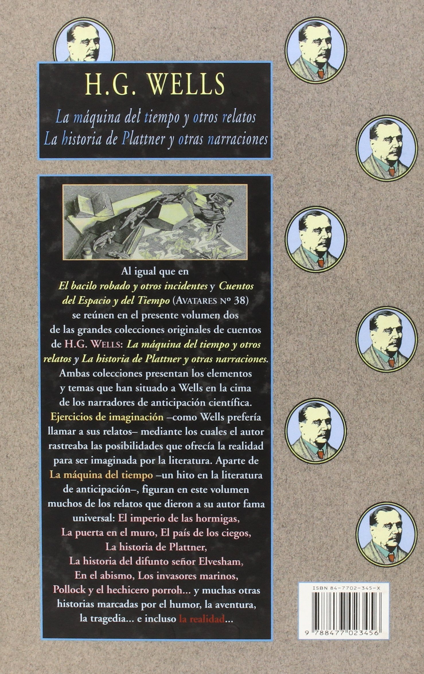 La máquina del tiempo & La historia de Plattner: Y otros relatos Avatares: Amazon.es: Herbert George Wells: Libros