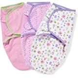 SwaddleMe Original Swaddle – Size Small/Medium, 0-3 Months, 3-Pack (Who Loves You)