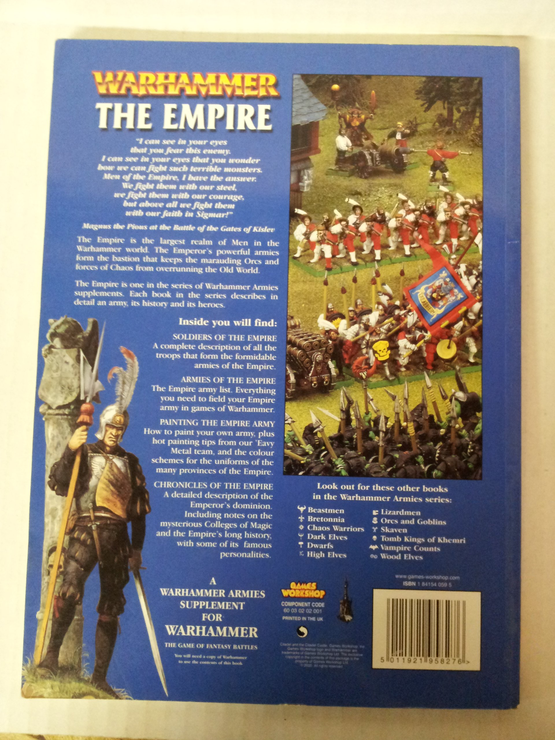 Amazon: Warhammer Armies: The Empire (9781841540597): Alessio Cavetore,  Dylan Owen, Alexander Boyd, Paul Dainton, Karl Kopinski, David Gallagher,