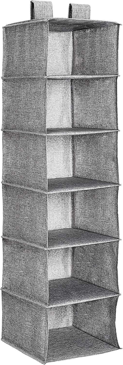 Heather Grey Basics Hanging Closet Shelf 6-Tier
