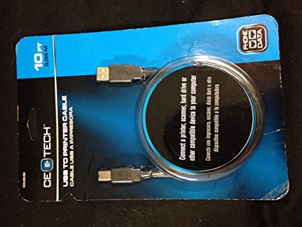 Amazon.com: 10 ft. USB to Printer Cable - Black-CE Tech ...