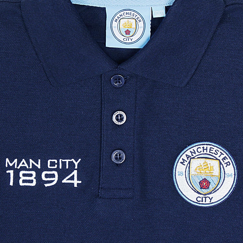 Manchester City FC - Polo de manga larga oficial - Para niño ...