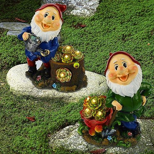 Juegoal Set of 2 Garden Gnome Statues