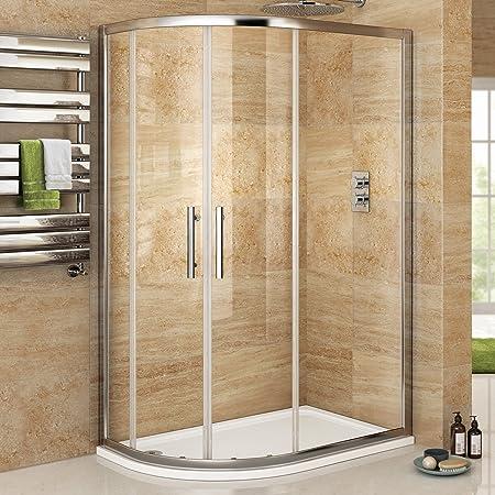 900 x 760 mm para zurdos cuadrante juego de fisureros para mampara de ducha de fácil de limpiar + juego de plato: iBath: Amazon.es: Hogar