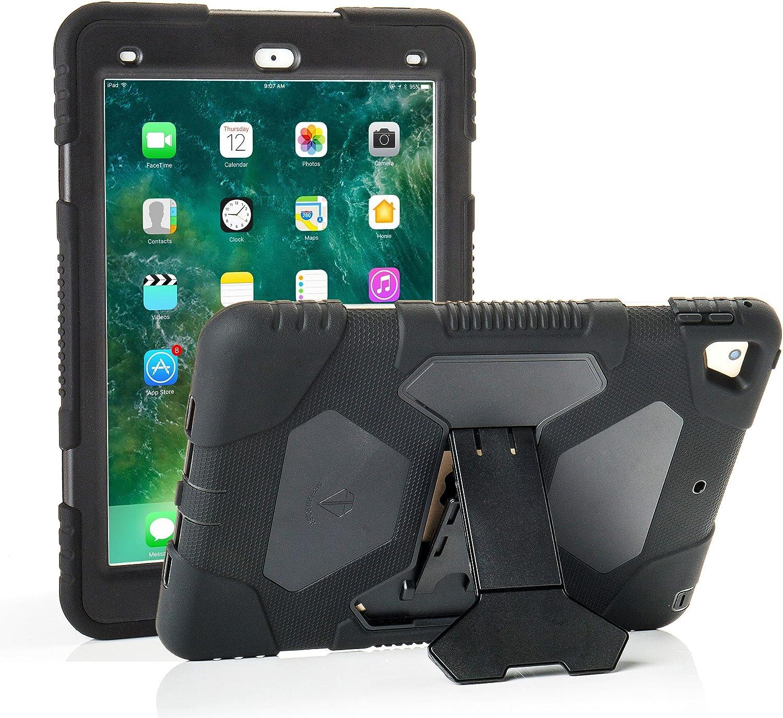 kidspr leicht sto/ßfest Robuste Cover mit Stand Schutz Full Body Rugged f/ür Kinder f/ür neue Apple iPad 24,6/cm 2018//2017/ Army//Black Neue iPad 9,7/2018//2017/Fall 6. Gen, 5. Gen.
