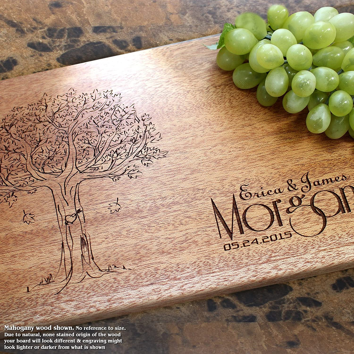 Personalized Cutting Board, Custom Keepsake, Engraved Serving Cheese Plate, Wedding, Anniversary, Engagement, Housewarming, Birthday, Corporate, Closing Gift #404