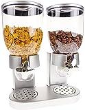 United Entertainment–Dispensador/muesli y Cereales Dispensador/Corn Flak dispensador/Doble de dispensador para Cereales, Corn Flakes y Cereales–Plata